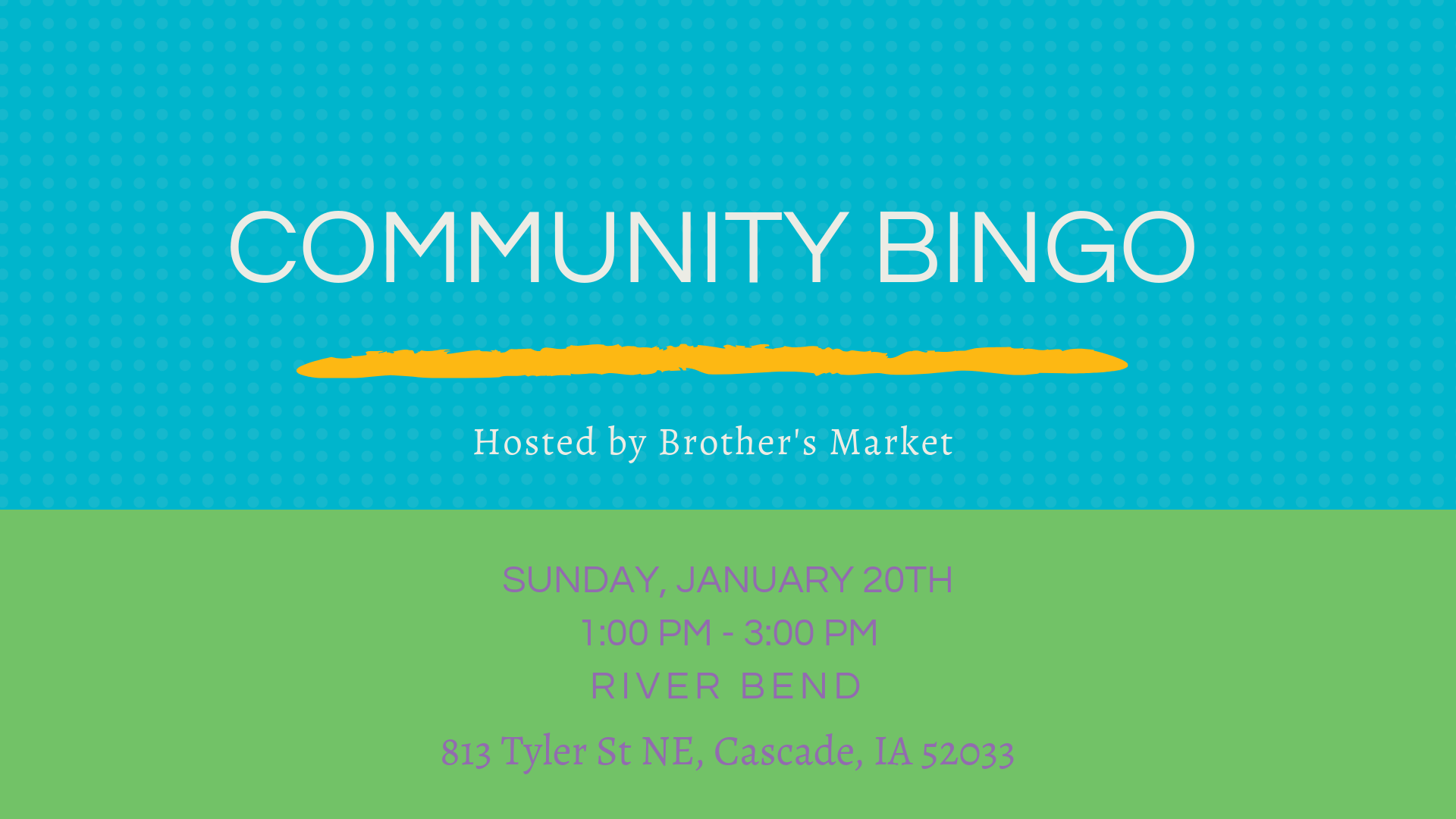 COMMUNITY BINGO River Bend Retirement