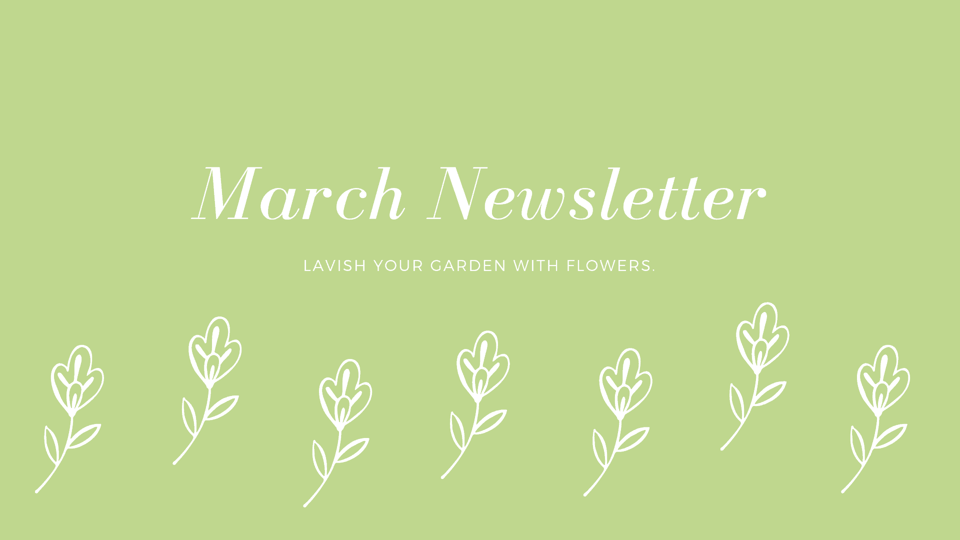 River Bend March Newsletter